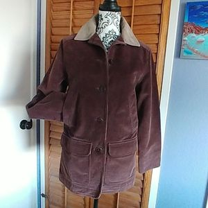 LL Bean Flannel Lined Courderoy Barn Jacket